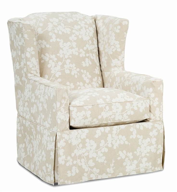Napa Skirted Wing Back Chair Slip Cover