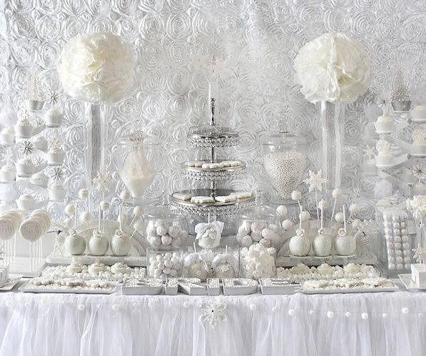 White / Winter dessert buffet