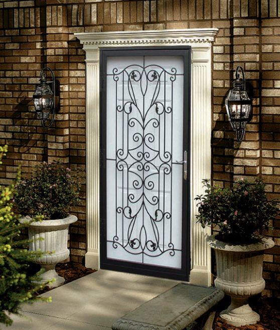 Wrought Iron Storm Door Home Decorating Inspiration