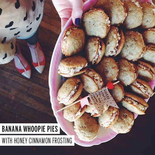 Banana Whoopie Pies, prosciutto asparagus pizza, flax coconut granola ...