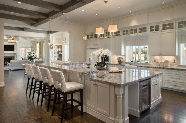 exotic granite and white cabinets kitchens pinterest