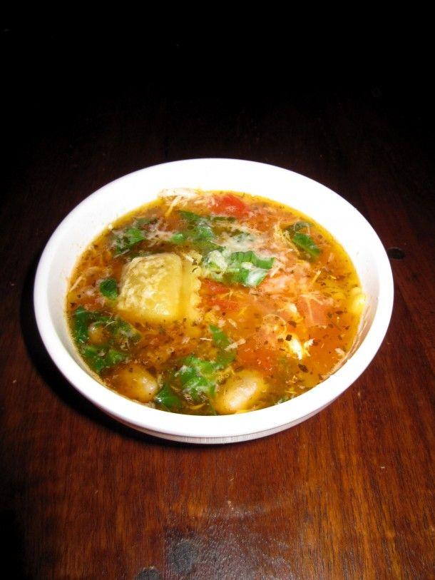 Roasted Chicken & Ravioli soup | Good Eats Cool Treats | Pinterest