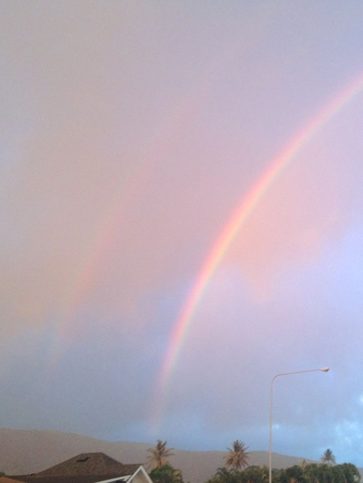 double rainbow in the sky