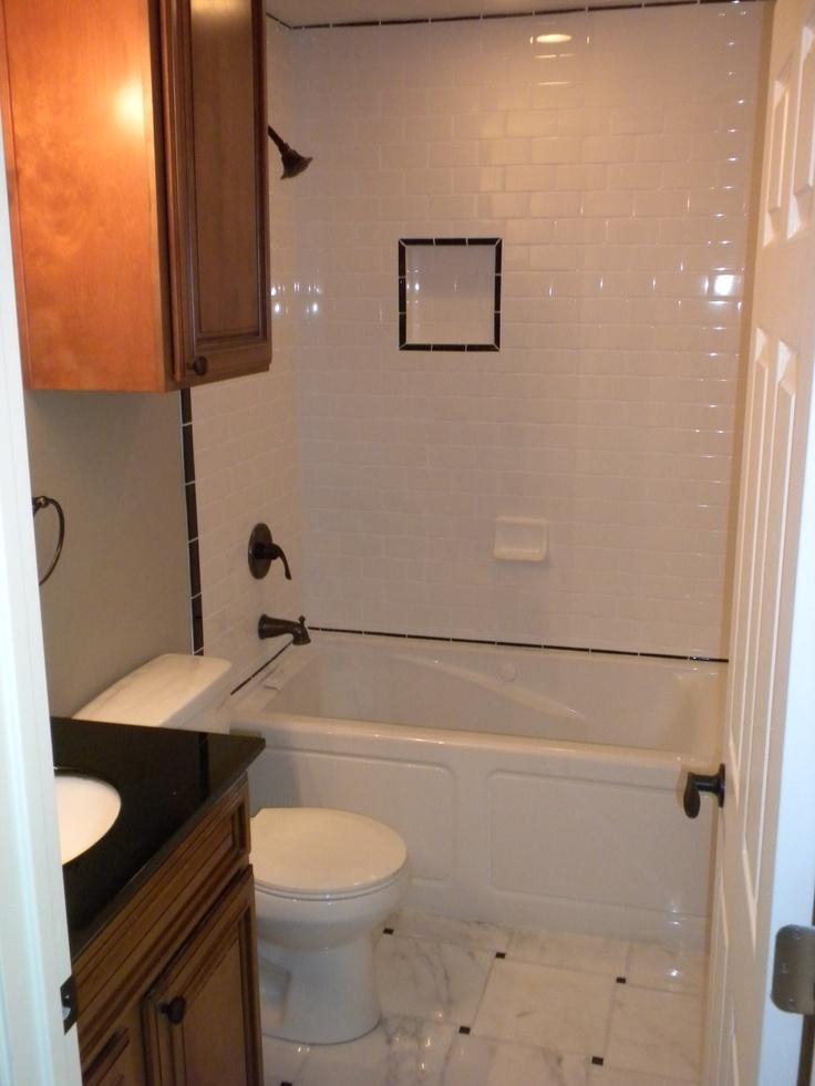 Black White Subway Tile In Bathroom House Of Pinterest Pinterest