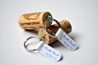 reuse your wine corks! Wine cork keychains