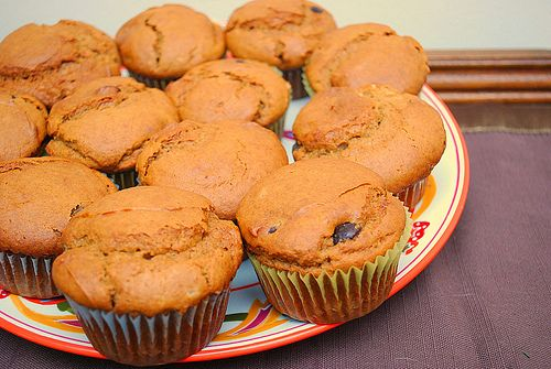 Peanutbutter and Chocolate Chip Muffins (with hidden carrot)