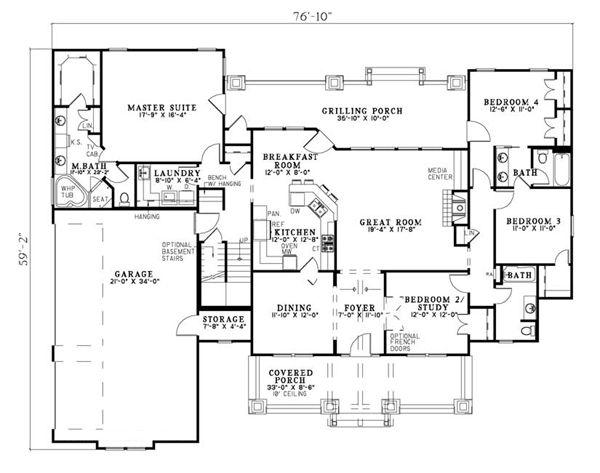 Country Craftsman Tudor House Plan 82217