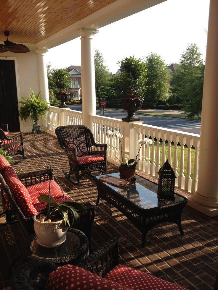 Our southern style front porch outdoor living pinterest for Southern front porches