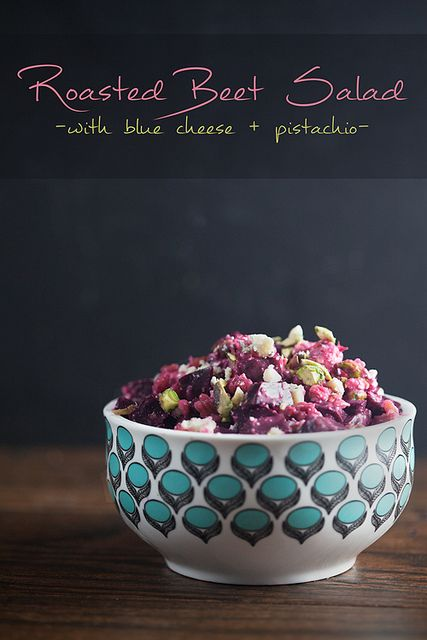 Roasted-Beet-Salad-with-Blue-Cheese-and-Pistachio by healthydelicious ...
