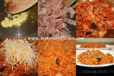 Stir fried Kimchi and Rice (Kimchi Bokkeumbap in Korean)   Recipe