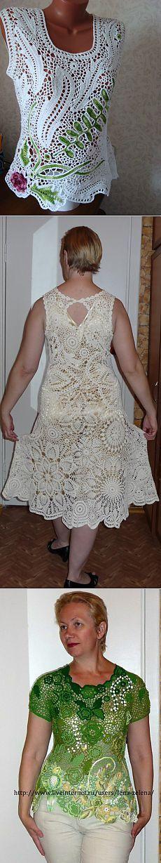 Филейное вязание схемы с платьями