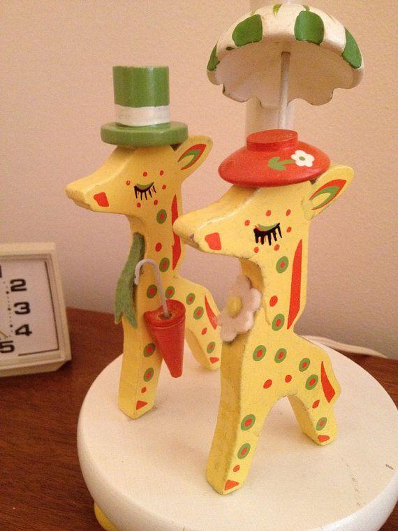 Vintage giraffe nursery : Vintage irmi nursery originals giraffes with hats by atomicvault, $40 ...