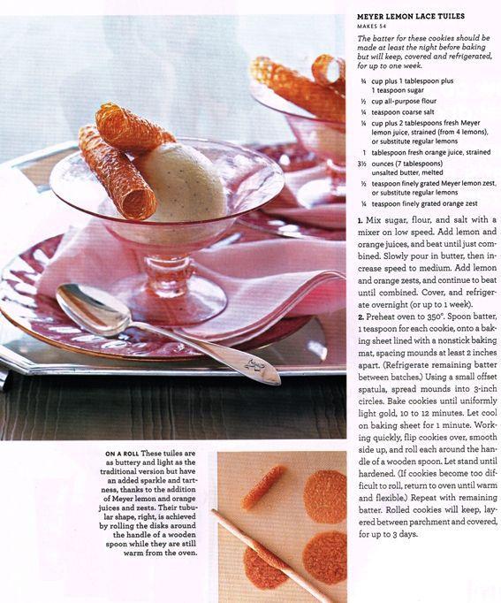 Lemon Lace Tuiles | CANDY/COOKIE CRAZY | Pinterest