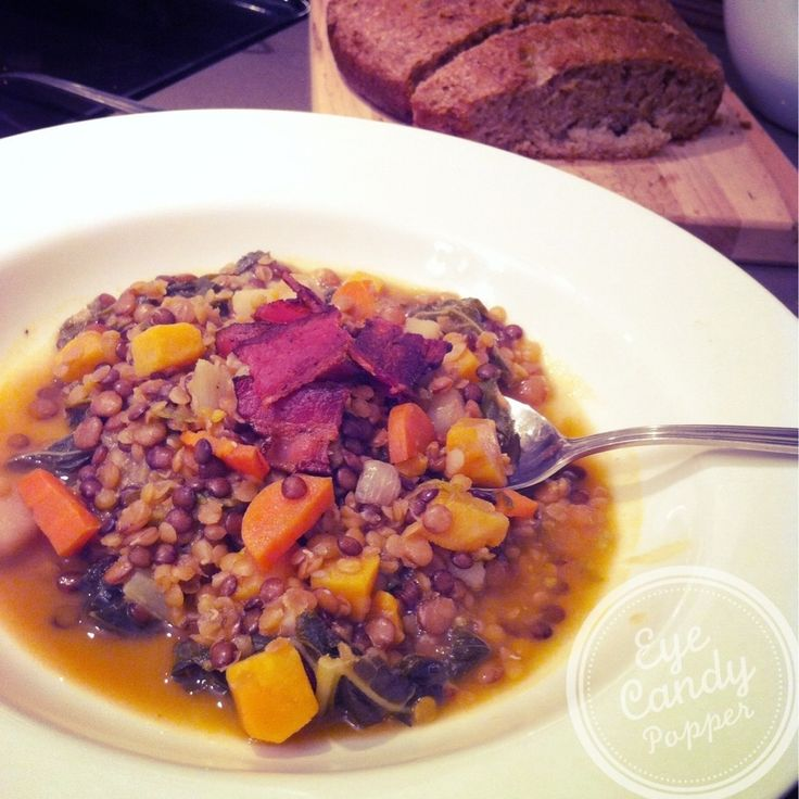 More like this: lentil soup , soups and bacon .