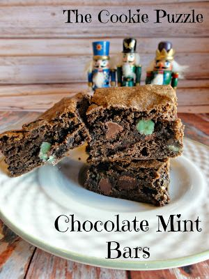 The Cookie Puzzle: Chocolate Mint Bars   Recipes from Tasty Tuesdays ...