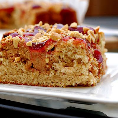 Peanut butter and jelly cake! | Food Things | Pinterest