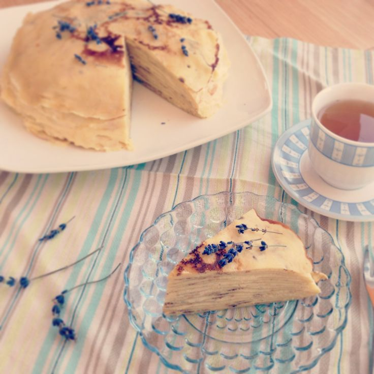 Honey lavender crepes cake | Crêpe... Yummy! | Pinterest