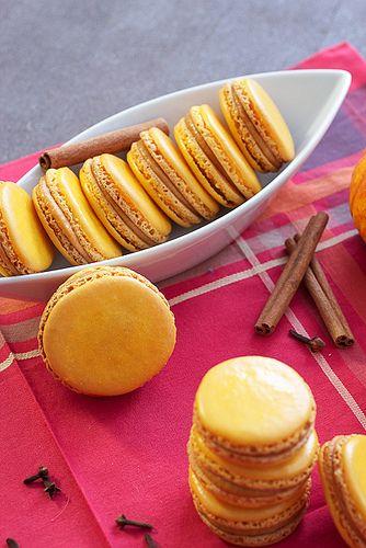 Pumpkin Macarons #cookieweek by LittleRedKitchen, via Flickr