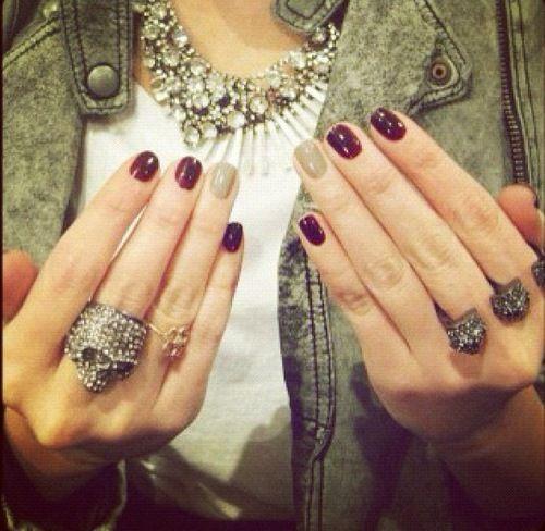 Дизайн ногтей безымянный палец другого цвета