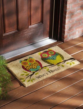 Hoo is there? #kirklands #entertaininstyle #owl #doormat