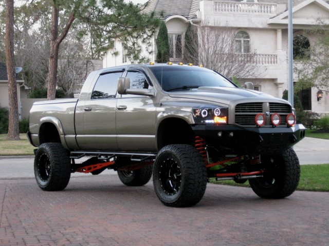 Dodge Cummins 3500 | Jacked up Dodge ram trucks | Pinterest