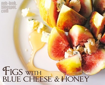 Fresh Figs With Blue Cheese And Honey Recipe — Dishmaps