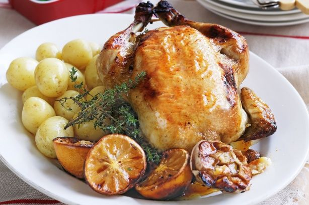 ... glass to this reinvented Sunday night lemon and thyme roast chicken