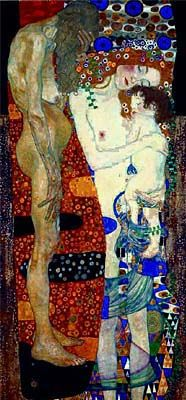 Mother Holding Baby Statue from Three Ages Of Woman by Gustav Klimt    Klimt Three Ages Of Woman