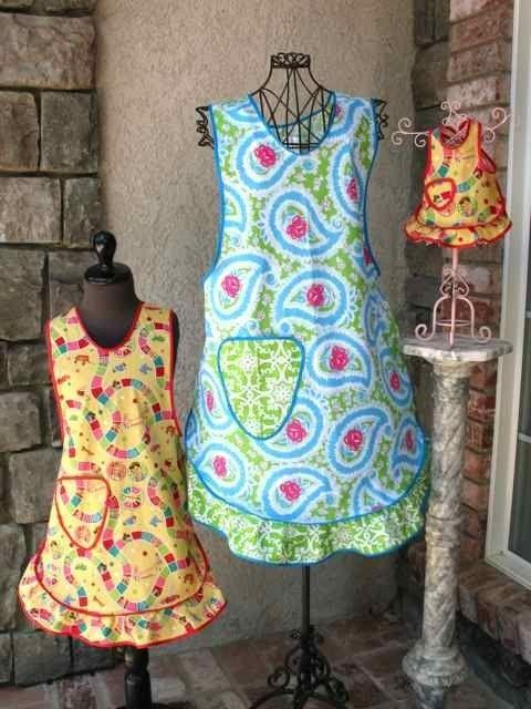 Goosegirl Sews - Yaya's Apron - E-PATTERN-apron pattern,sewing pattern,doll pattern,apron, apron strings, make an apron