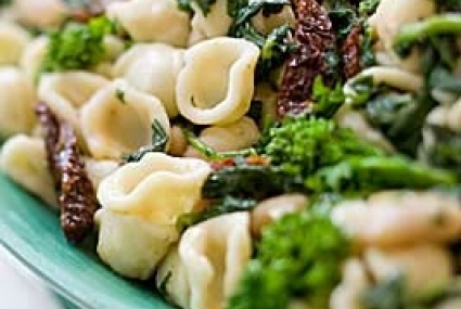 Orecchiette with Broccoli Rabe, Sun-Dried Tomatoes and White Beans ...