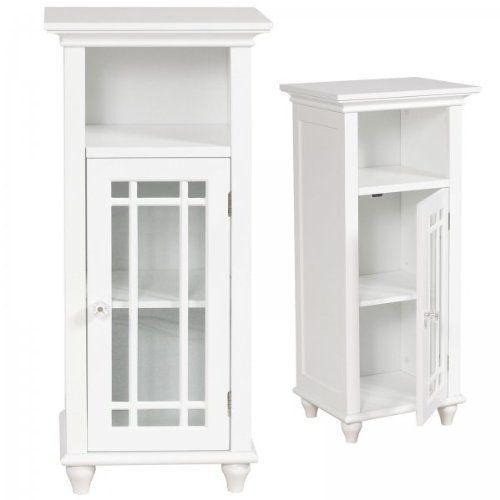 Narrow Cabinet Works Well As A Bathroom Floor Cabinet Providing