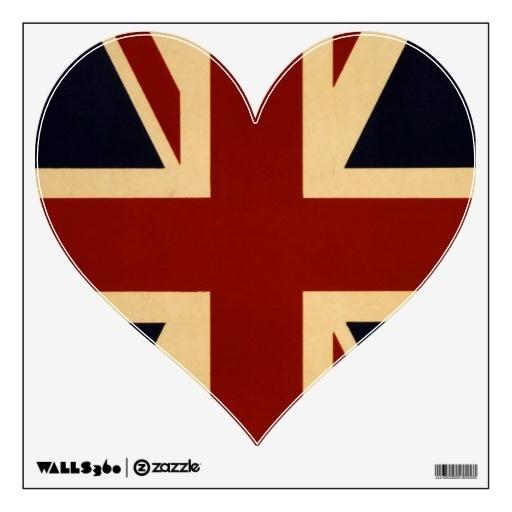 Vintage British Union Jack Flag Wall Graphics: pinterest.com/pin/484488872383765041