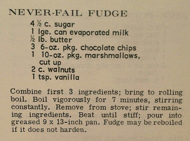 No fail fudge recipe. Perfect for Christmas candy.