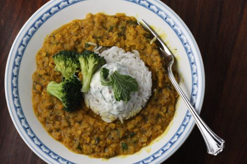 Curried Red Lentil And Swiss Chard Stew With Garbanzo Beans Recipe ...