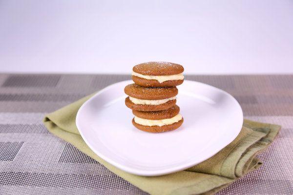 Ginger Cookies with Lemony Filling | a girl's gotta eat | Pinterest