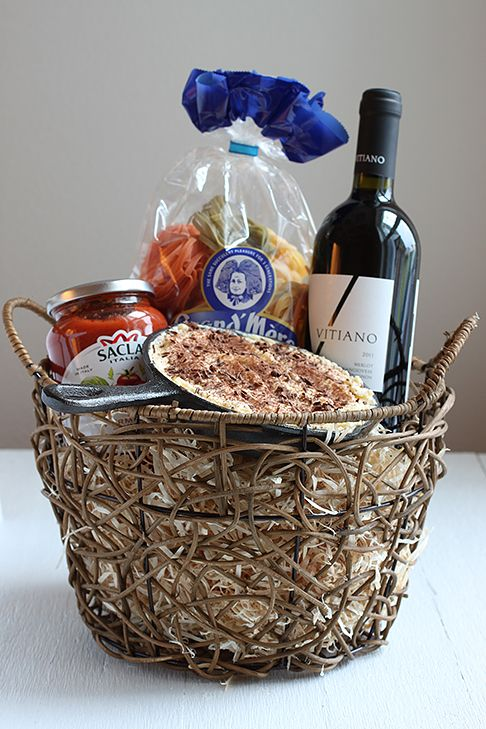 An quot italian dinner quot themed welcome housewarming basket complete with