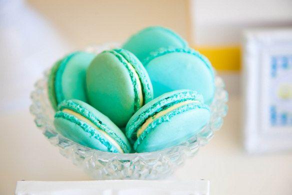 Вкусные миндальное печенье совершенные на бирюзовый свадьбы # свадьба # миндальное печенье # десерт # бирюзы