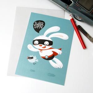 Card Super Lapin by Océchou