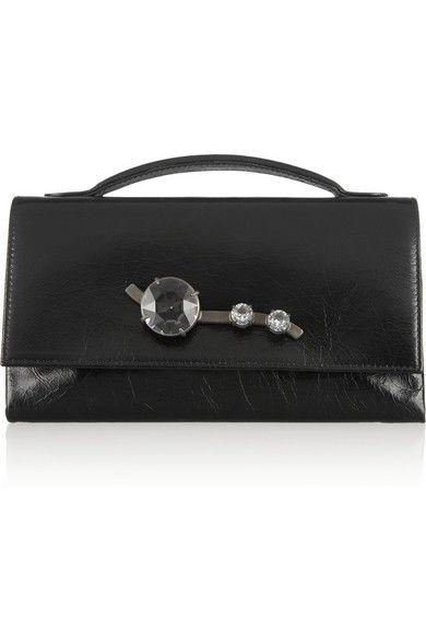 Yves Saint Laurent | Chyc quartz-embellished clutch | NET-A-PORTER ...