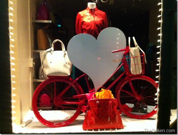 valentine's day retail window display