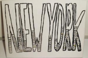 New York Modern Minimalistic Painting Black by poptartsandjelly