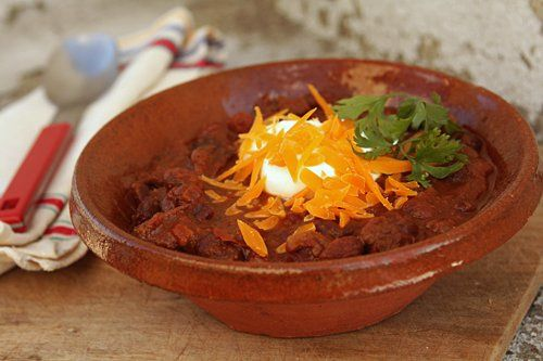 Chili with chocolate... gotta try it.