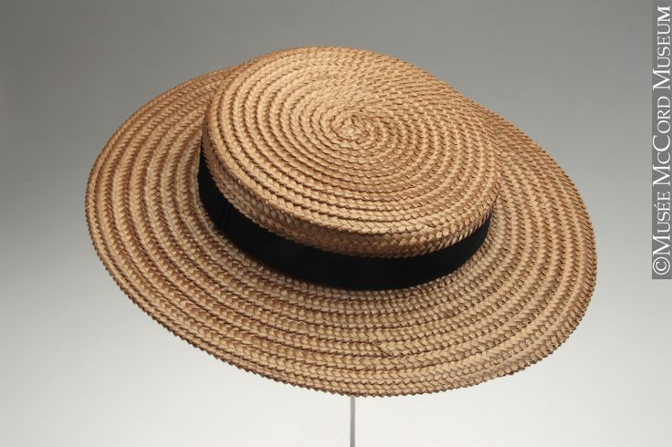 s straw boater hat c 1900 on a