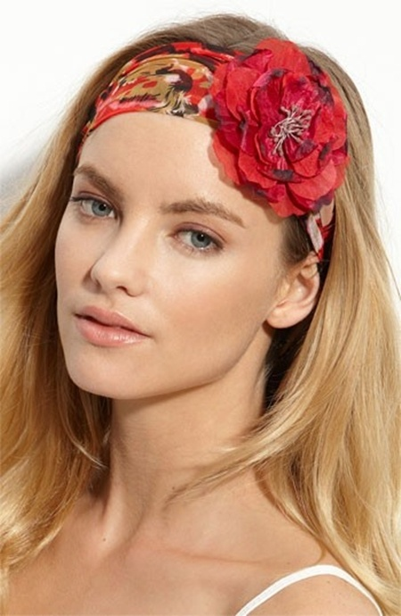 Put a flower on the Head Scarf.