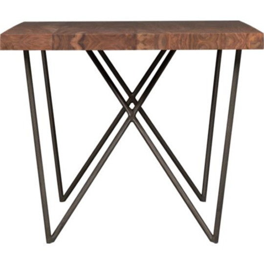 Wood Planks Are Perched On A Iron W Base Dylan Dining Table 1000 Cb2