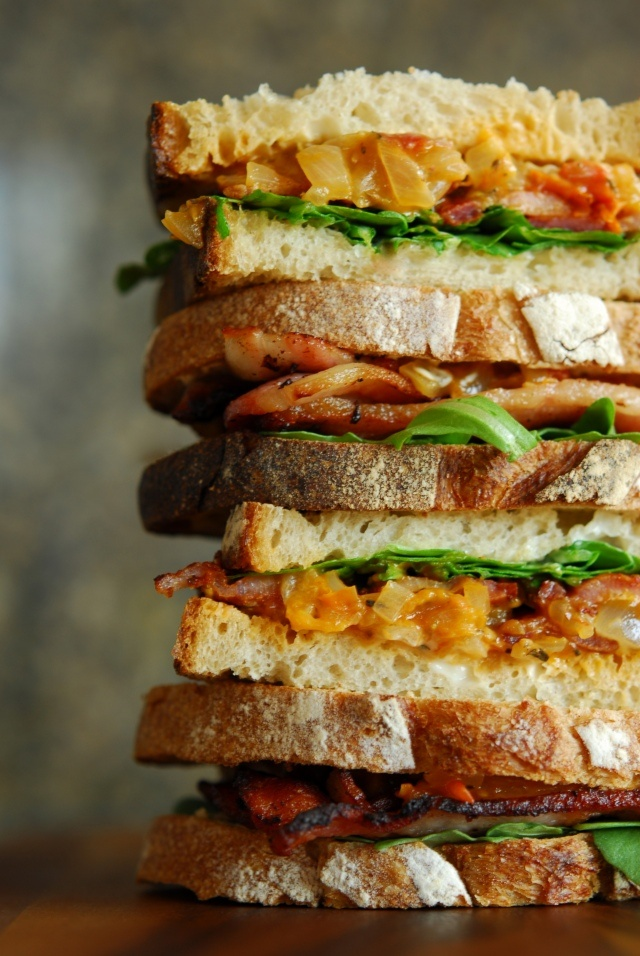 bacon, arugula + tomato jam sandwich | Soups & Sandwiches | Pinterest