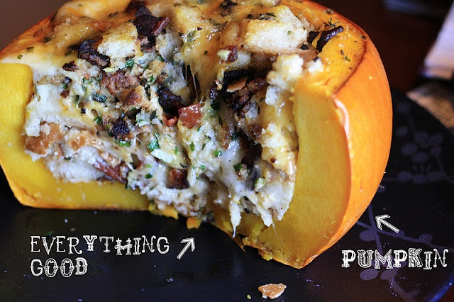 pumpkin stuffed with everything good | Loves Food, Loves to Eat | Pin ...