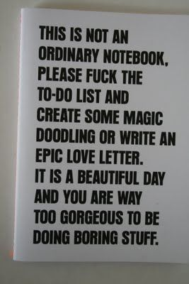 notebook mantra