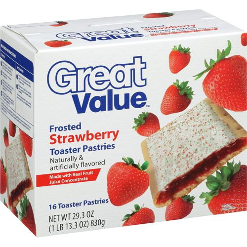 Great Value Frosted Strawberry Toaster Pastries, 16 count, 29.3 oz ...