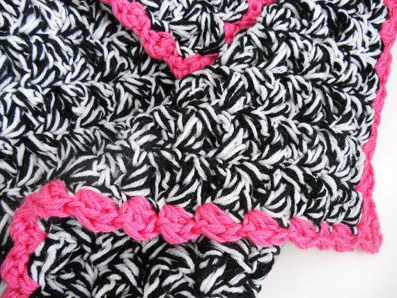 Crochet Zebra Print Baby Blanket Pattern : RESERVED for LAUREN M